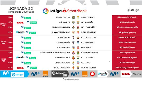 El Málaga - Almería, el martes 30 de Marzo a las 19:30 horas