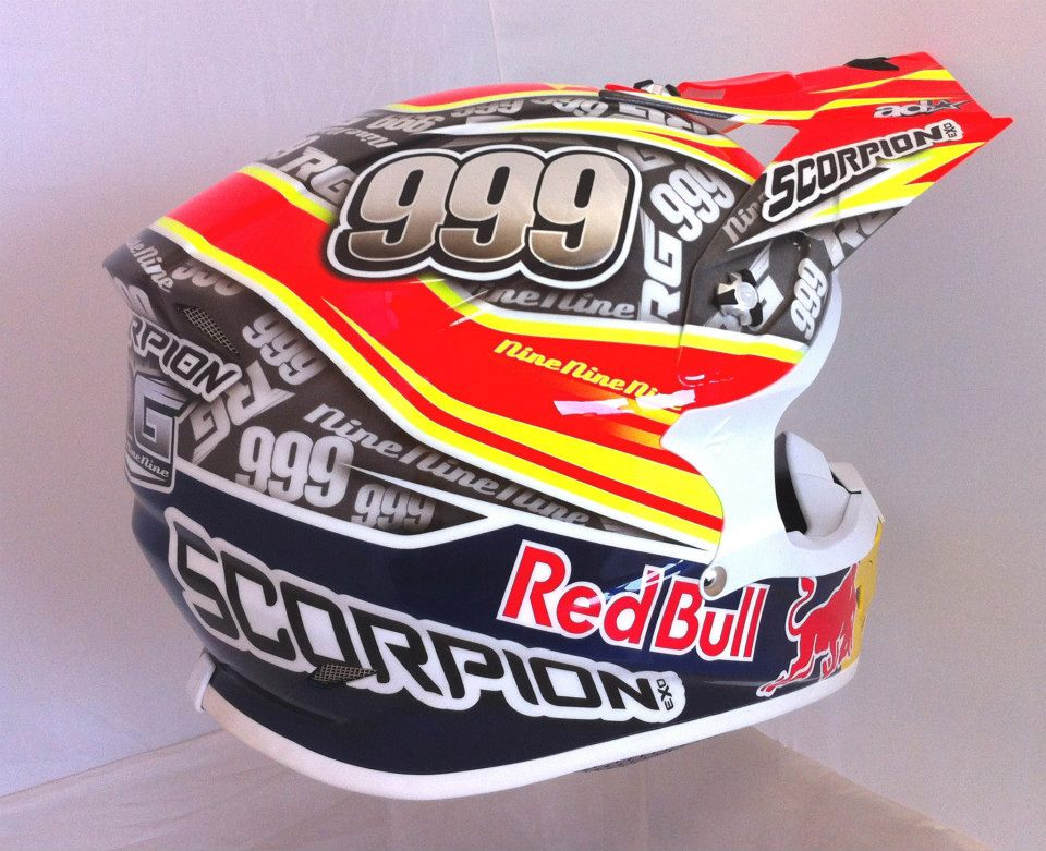racing helmets garage scorpion vx 20 air r gon alves 2013 by aerodiffusion. Black Bedroom Furniture Sets. Home Design Ideas