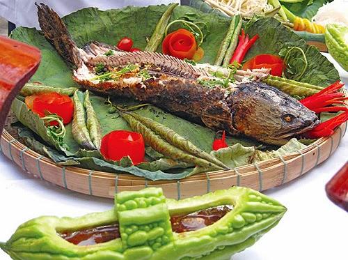 Cá lóc nướng rơm