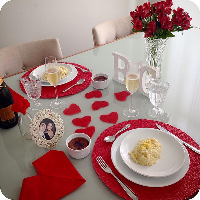 Montando a Mesa : 1º Aniversário de Casamento