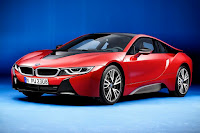 BMW i8 Protonic Red Edition (2016) Front Side