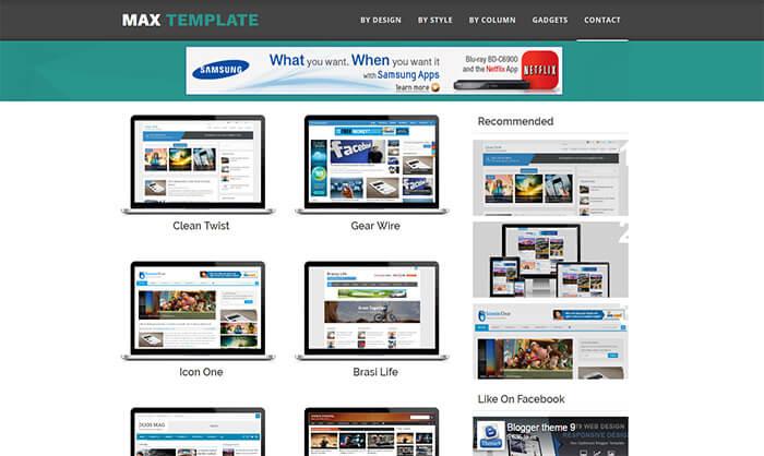 MaxTemplate Blogger Theme
