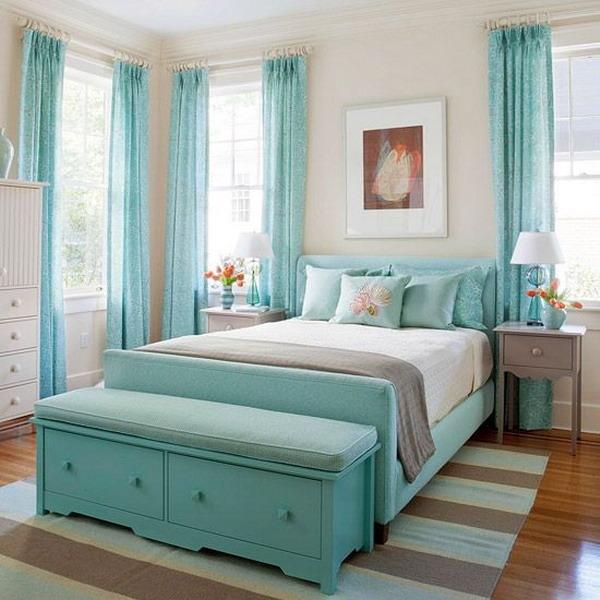 Dormitorios juvenil color turquesa y blanco decoraci n - Colores dormitorio juvenil ...