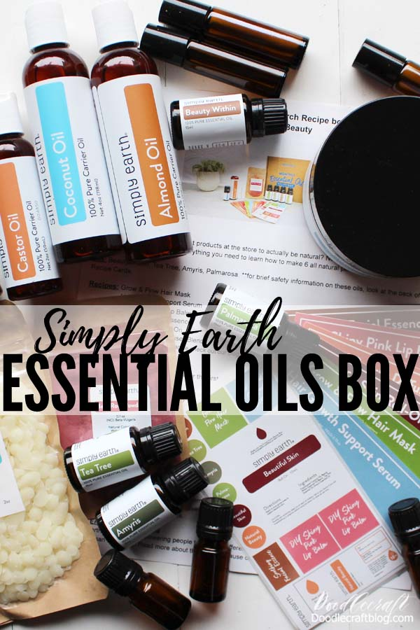Today I am sharing all about Simply Earth, an essential oils subscription box I just discovered! It's crafting with essential oils! A box arrives each month with recipe cards, supplies and the confidence to make them. The March Box is all about   I received these products from Simply Earth in exchange for this review, affiliate links included.  Are you an essential oils lover? I'm not going to cure the plague with my oils, but as far as mood elevation, aroma therapy and alternatives to harsh chemicals go, I love essential oils! I've talked about using them before on my blog, but it has been a while. I love making homemade hygiene products that eliminate extra smells, since I am highly allergic to scents...but not pure essential oils. Here's my code: DOODLECRAFTFREE Again this is a super deal: $39 for First Box (free shipping) includes BIG BONUS BOX plus, $40 gift card for the next box free! Just use the code: DOODLECRAFTFREE  Try it out and cancel at any time!