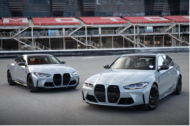 وصول السيارتين الجديدتين كلياً BMW M3 Competition Sedan وBMW M4 Competition Coupé إلى صالات عرض المركز الميكانيكي للخليج العربي