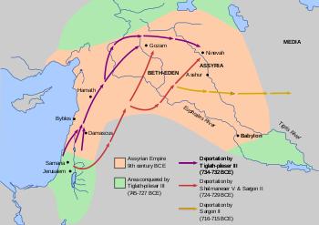 Peta Kerajaan Assyria