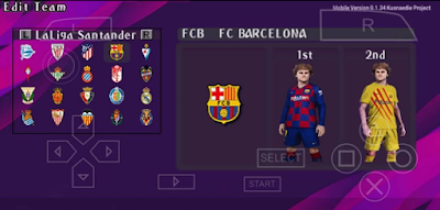 PES 2020 Mobile PPSSPP eFootball v2 by Edie