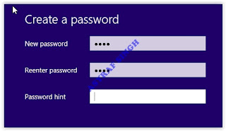create password - windows 8.1