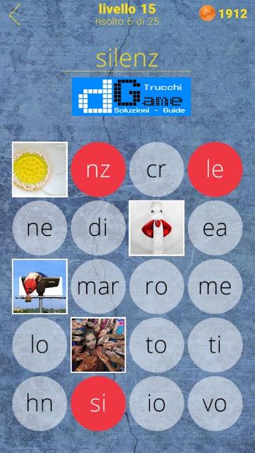 650 Parole soluzione livello 15 (1 - 25) | Parola e foto