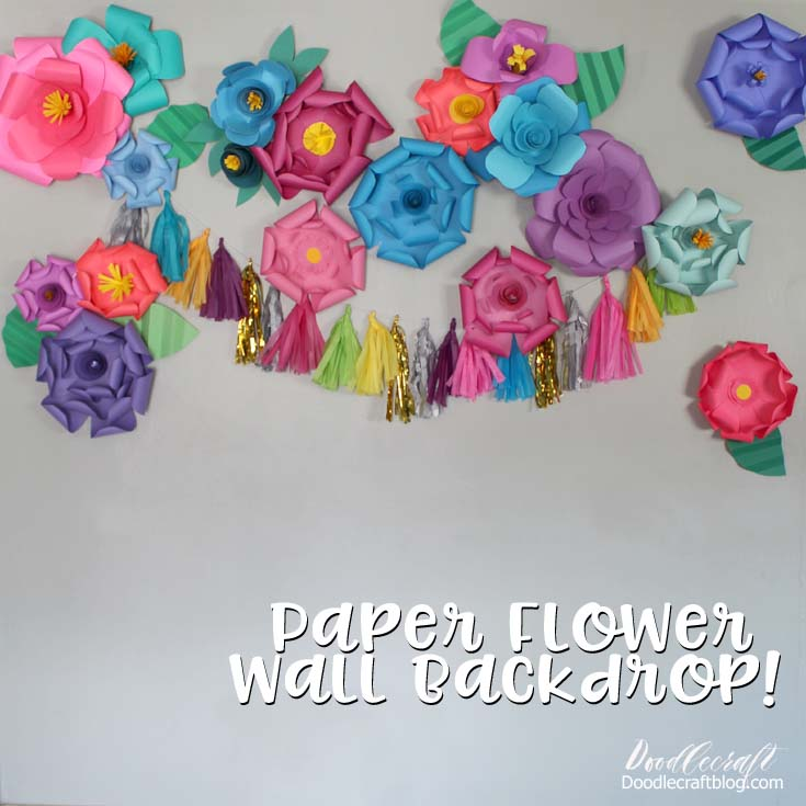 Create the perfect backdrop wall using paper flowers that are easy to make.