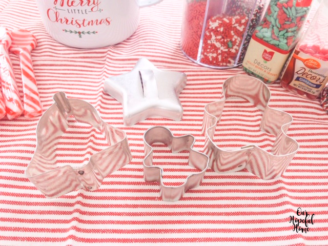 silver bell star gingerbread man Christmas cookie cutters