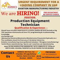Production Equipment Technician Job Vacancy