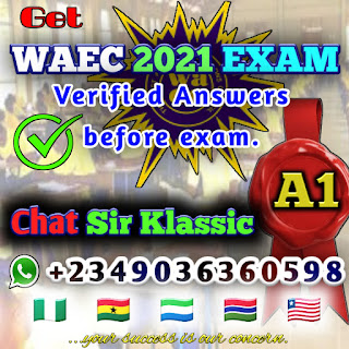 waec 2021 answers