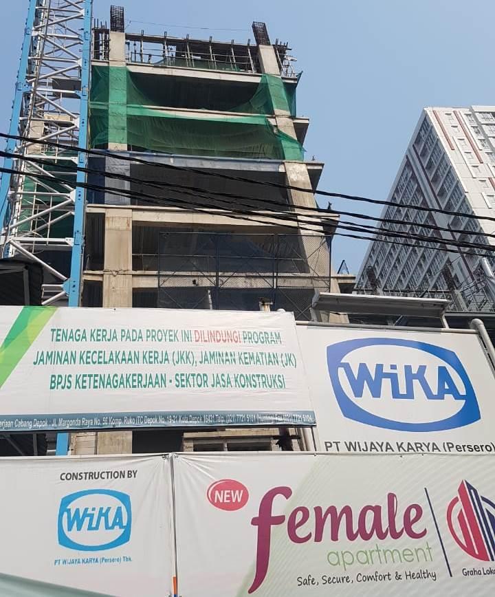 Pembangunan New Female Apartrment Bermasalh Hingga Digugat di PN Depok