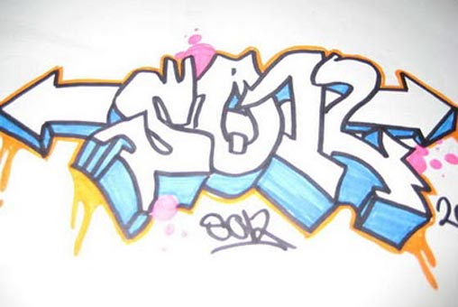 Arrow Alphabet Graffiti Sor On Paper