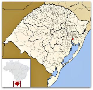 Cidade de Canoas, no Mapa do Rio Grande do Sul