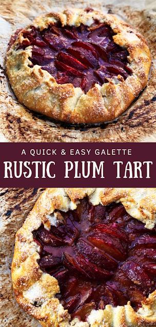 Rustic Plum Tart (Galette)