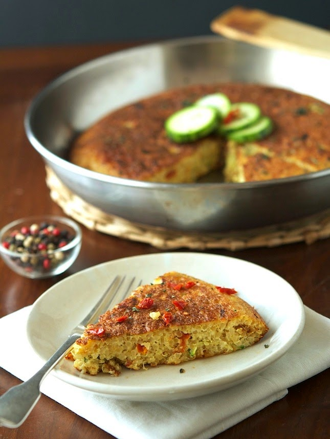Quinoa Zucchini and Sun-Dried Tomato Frittata