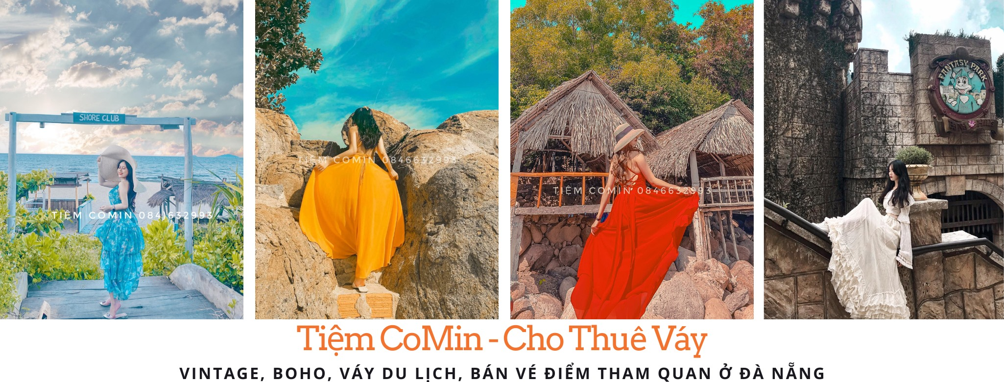 Tiệm CoMin - Cho thuê váy Vintage, Boho du lịch Đà Nẵng