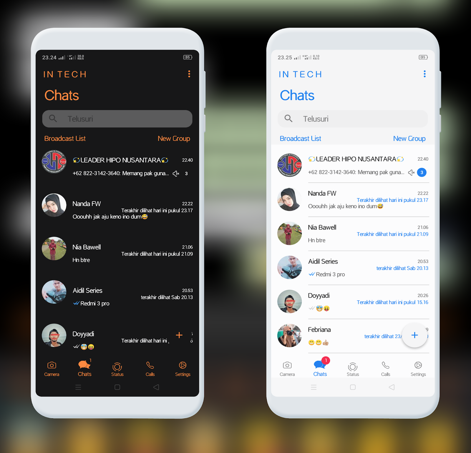 Tema WhatsApp Aero iOS For Android Black/White Terbaru ...
