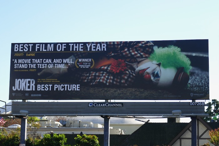 Joker Best Picture nominee billboard