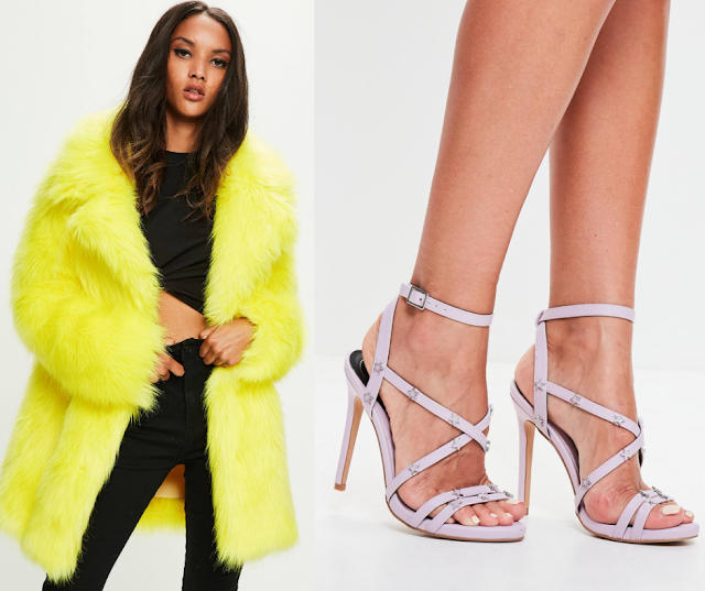 Neon Coat || Star-Detail Shoes