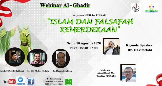 Dihadiri Tokoh Liberal, Syiah di Jakarta Gelar Webinar Al-Ghadir
