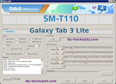 سوفت وير هاتف Galaxy Tab 3 Lite موديل SM-T110 روم الاصلاح 4 ملفات تحميل مباشر