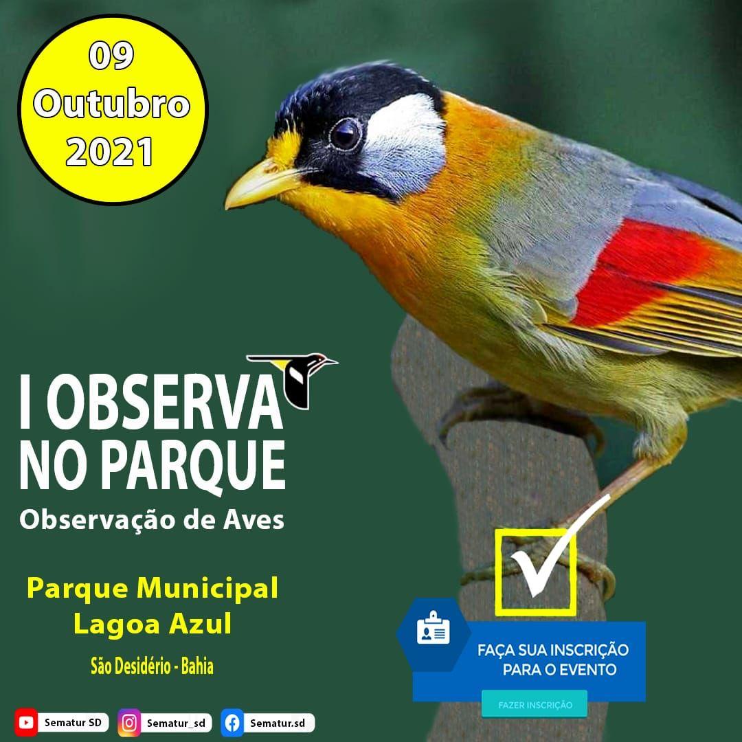 Prefeitura de São Desidério realiza inscrições para Observação de Aves no Parque da Lagoa Azul