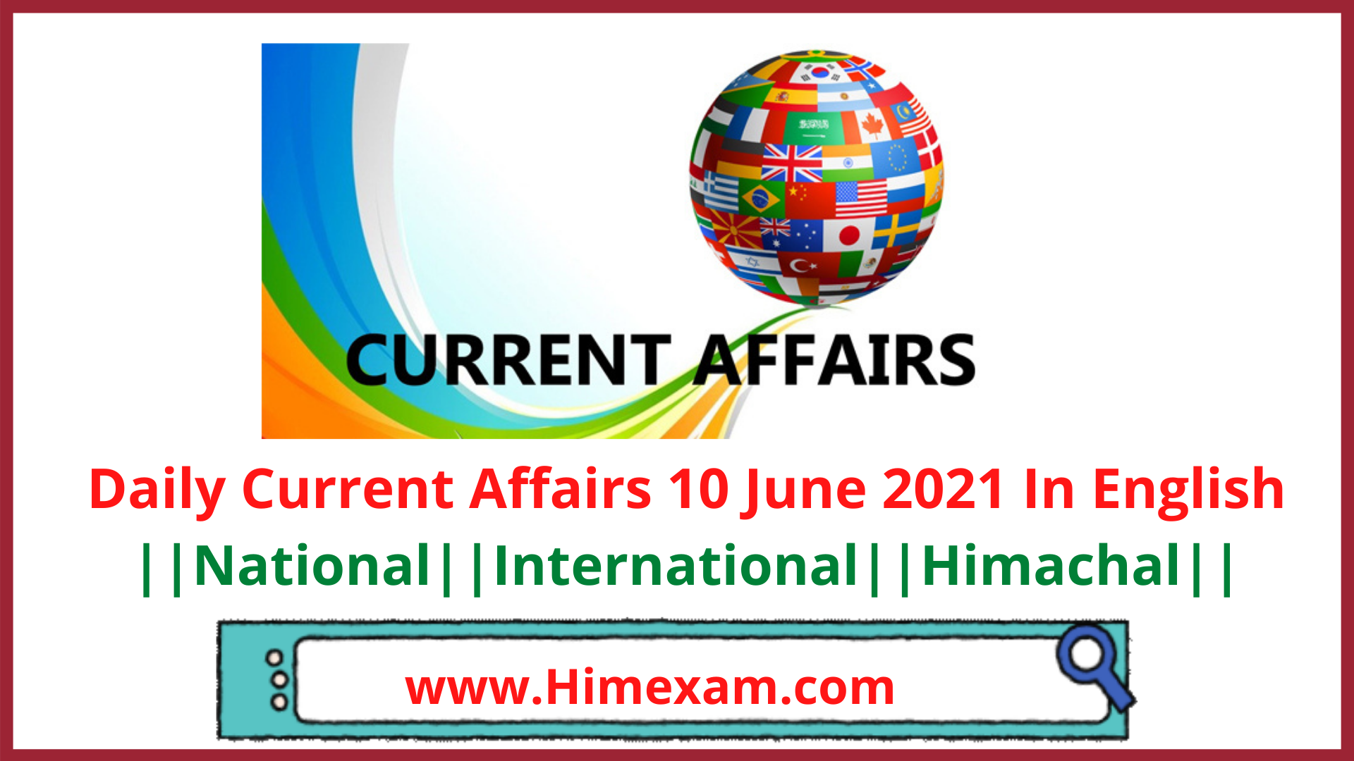 Daily Current Affairs 10 June 2021 In English