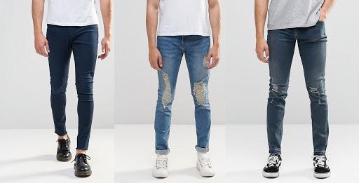Mẫu quần jean nam skinny