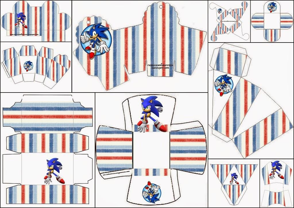 Imagenes De Sonic Para Imprimir: Sonic: Cajas Para Imprimir Gratis.