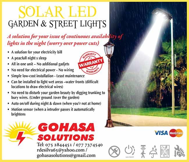 Gohasa Solutions | Solar LED Garden & Street Lights.