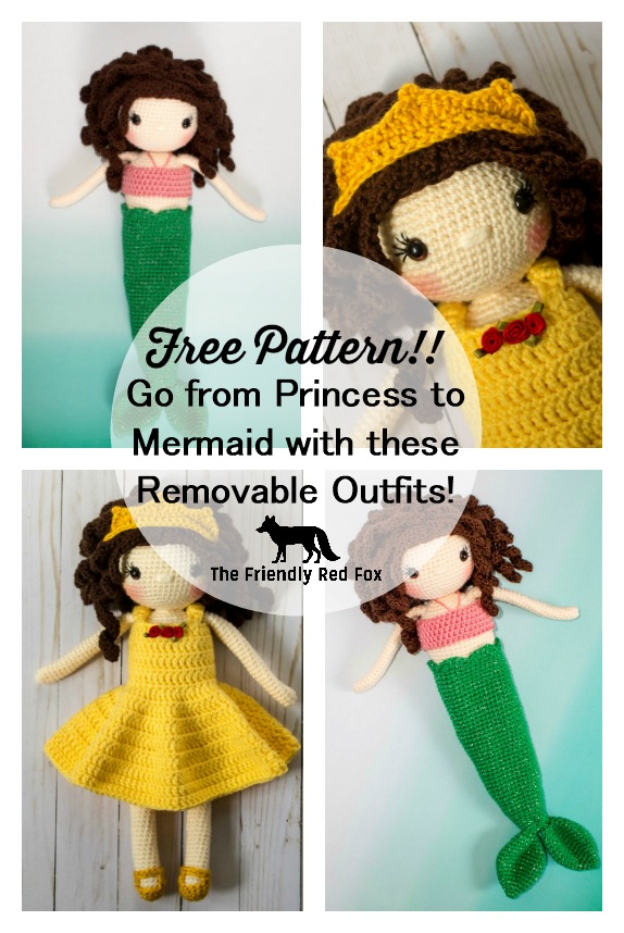 Free Crochet Doll Mermaid Fin Pattern Sophie Edition