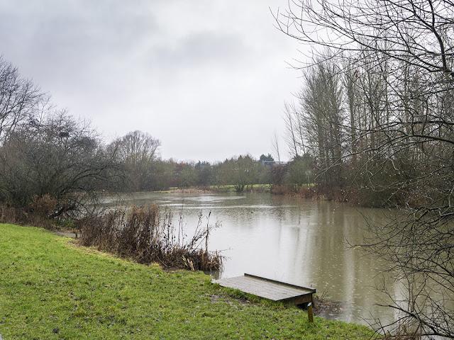 Teardrop Lakes in the rain