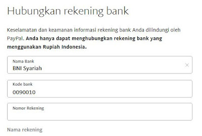 Menambahkan Rekening Bank ke Akun Paypal
