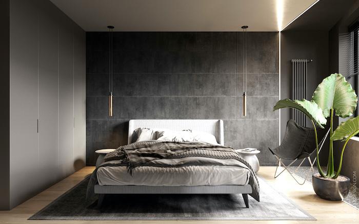 Dormitorio urbano con iluminación led