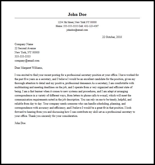 Contoh Surat Lamaran Kerja Dalam Bahasa Inggris Untuk Sekretaris Dan Artinya