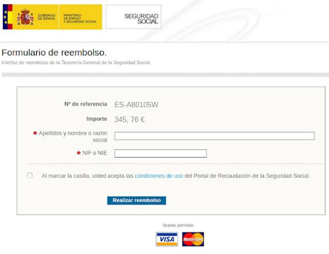 Página web fraudulenta suplantando la identidad de la Seguridad Social, solicitud de datos personales.