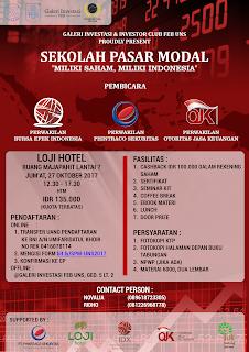 """Sekolah Pasar Modal """"Miliki Saham Miliki Indonesia"""""""