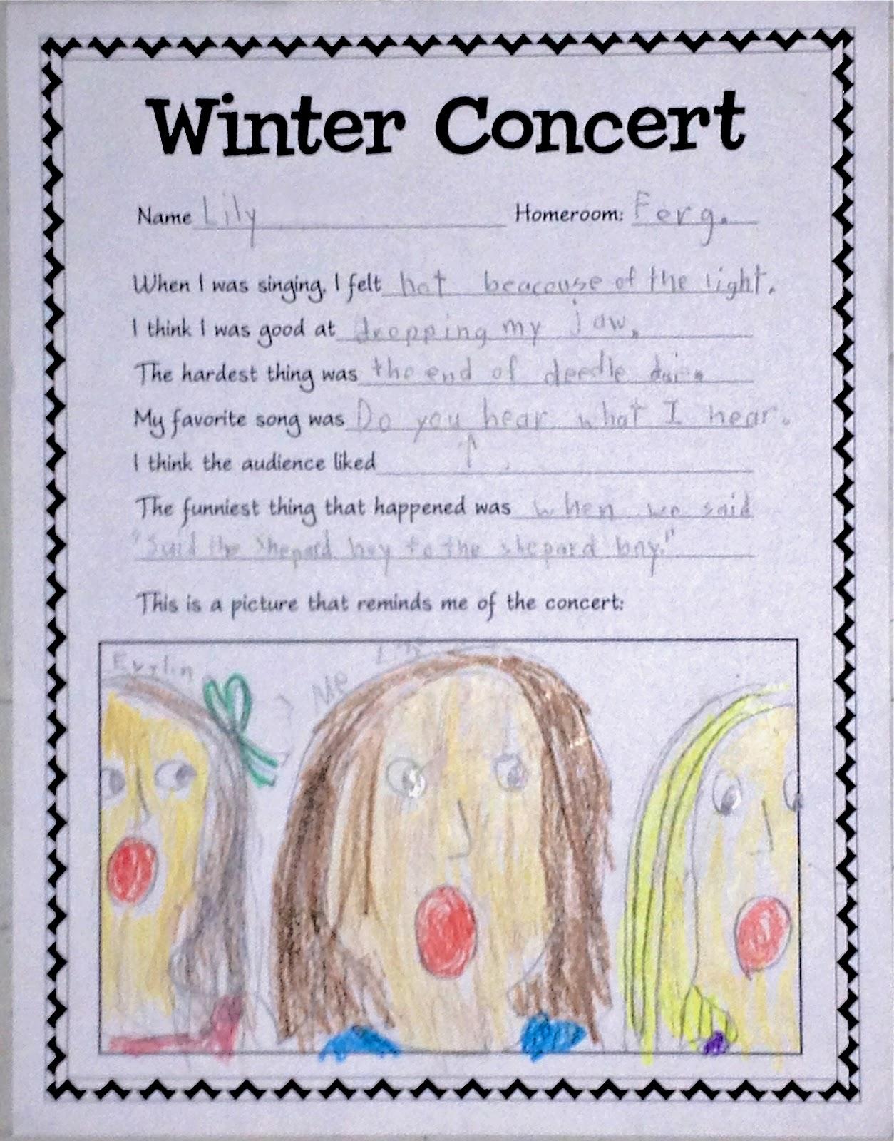 Make Music Rock Winter Concert Reflection
