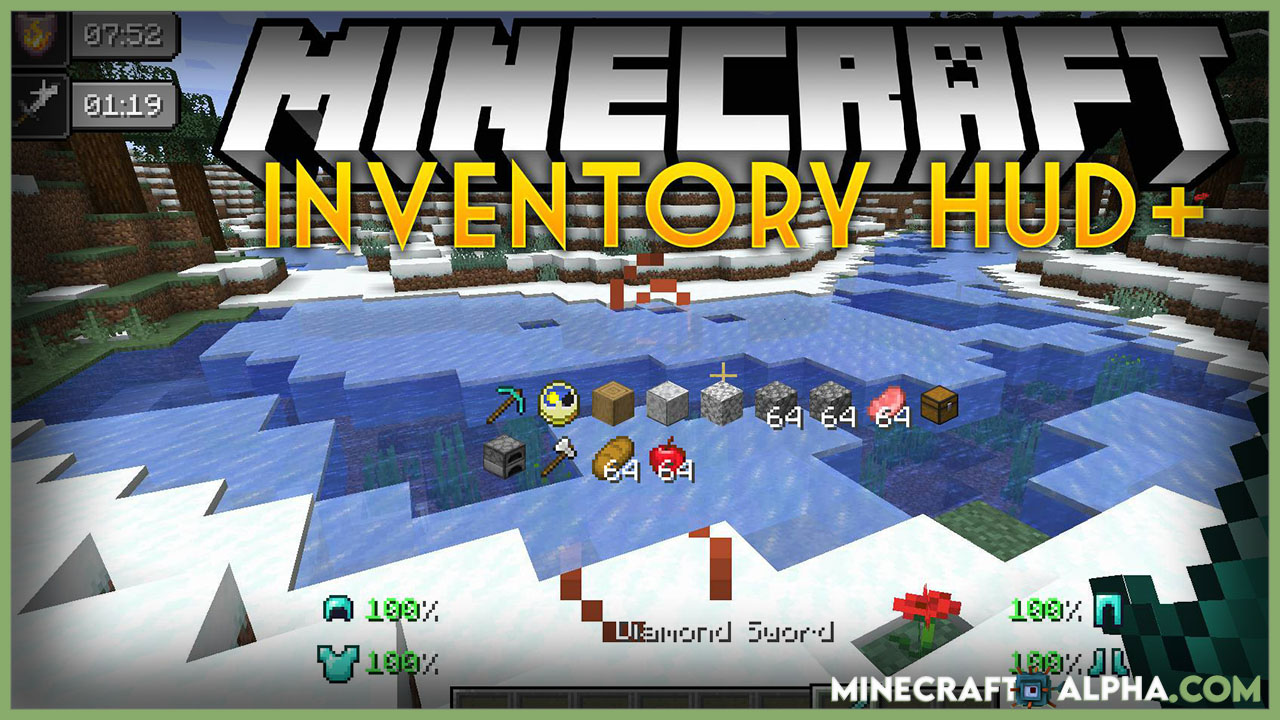 IMinecraft nventory HUD+ Mod For 1.17.1/1.17 (Show Inventory to HUD)