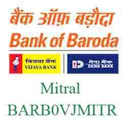 Vijaya Baroda Bank Mitral Branch New IFSC, MICR