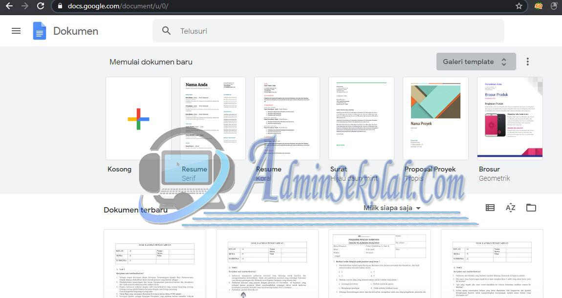 Cara Membuat Soal Ujian Online Dengan Google Form 1