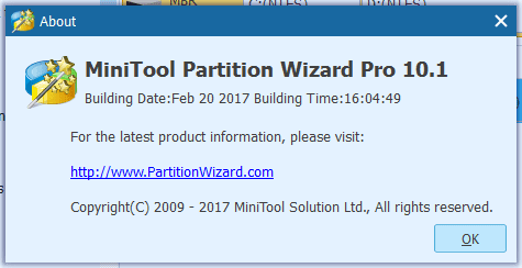 MiniTool Partition Wizard 10.1 Crack