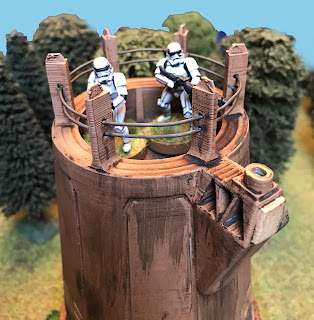Two Stormtroopers look out form the upper deck
