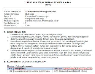Download RPP Kelas 3 Tema 6 Semester 2 Kurikulum 2013 Revisi 2018