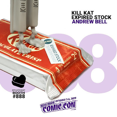 New York Comic Con 2019 Exclusive Expired Stock Kill Kat Vinyl Figure by Andrew Bell x myplasticheart