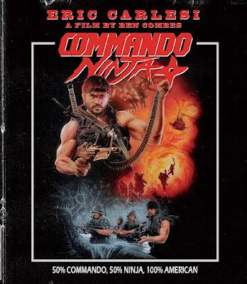 Cover art for ETR Media's upcoming Blu-ray of COMMANDO NINJA!