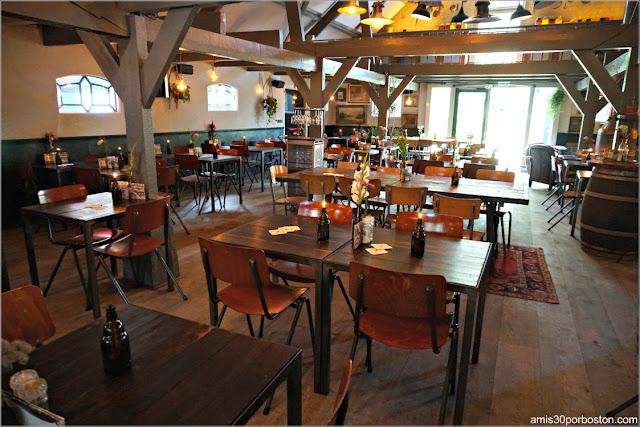 Comedor del Restaurante De Vergulden Eenhoorn en Amsterdam